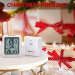 ThermoPro TP-60 Thermomètre Hygromètre Intérieur Extérieur, 60m à distance, Moniteur Température et Humidité Sans Fil, Grand Écran LCD, 4 Piles Fournies, Blanc/Gris de la marque ThermoPro image 1 produit