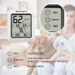 ThermoPro TP50 Thermo-hygromètre électronique, Thermomètre Hygromètre Intérieur sans fil, Écran LCD digital pour l'affichage de température et humidité, Mémoire de Max/Mini, Pile Fournie, Blanc de la marque ThermoPro image 4 produit