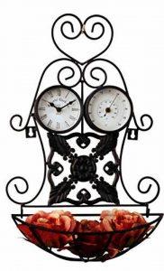 Tinas Collection Support à Horloge murale avec thermomètre pour le jardin, station météo avec thermomètre d'extérieur et fleurs de la marque Tinas-Collection image 0 produit