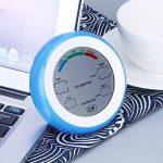 TOOGOO Numerique LCD Affichage Thermometre Interieur Hygrometre Rond Sans Fil electronique Temperature Humidimetre Metre Station Meteo Testeur bleu de la marque TOOGOO image 6 produit