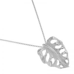 Vente Bijoux en argent sterling: Blanc brossé argent pendentif feuille de squelette (sans chaîne) (station météorologique) de la marque Rue B Silver image 0 produit