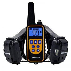 Wodondog Shock Collar 870 yards Range Training, Rechargeable et IPX7 collier de chien imperméable à l'eau avec Beep, Vibration et Shock collier électrique pour tous les chiens de taille (Pour 2 Chiens) de la marque Wodondog image 0 produit