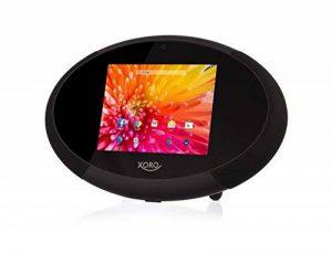 Xoro HMT 400 22,6 cm (8 Zoll) Internet-TV mit Radio/Web Media Player (1,5 GHz Dual Core, 1GB RAM, 8GB interner Speicher, WLAN, Bluetooth 4.0, HDMI, DLNA, Wetterstation, Android 4.4) schwarz/weiss de la marque Xoro image 0 produit