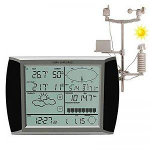 YAOBLUESEA Station Météo Sans Fil Solaire Station Météorologique avec Anémomètre sans fil / pluviomètre / température avec alarme / humidité, écran tactile logiciel de la marque YAOBLUESEA image 0 produit