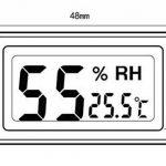 Yeeco Thermomètre et Hygromètre d'intérieur de l'affichage à Cristaux Liquides de Précision de Haute Précision Moniteur de Confort à la Maison Moniteur de l'humidité sans fil Indicateur de Température de Capteur d'humidité pour la Maison, la Voiture et le image 2 produit